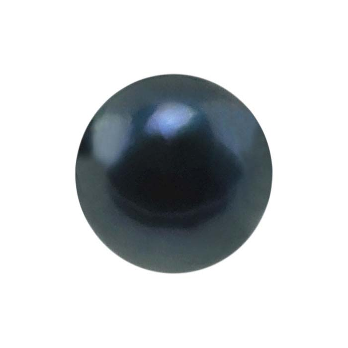 Akoya Cultured 6–6.5mm Round Pearl, Black, A/B-Grade