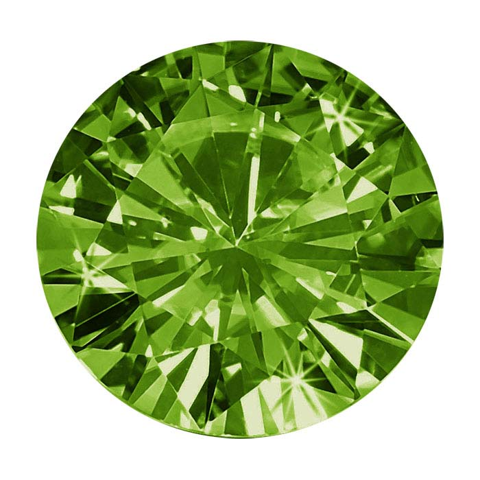 Chrome Diopside 5mm Round Faceted Stone, AAA-Grade