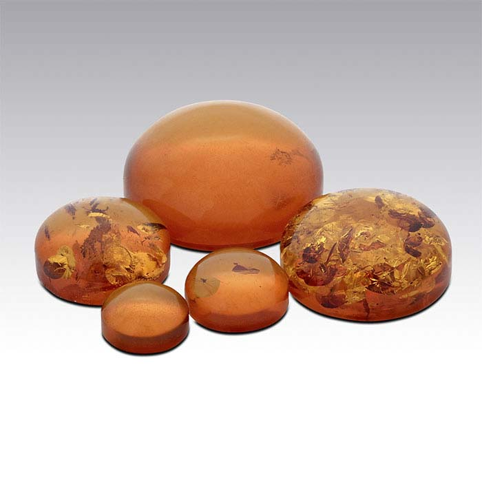Amber  Round Cabochons