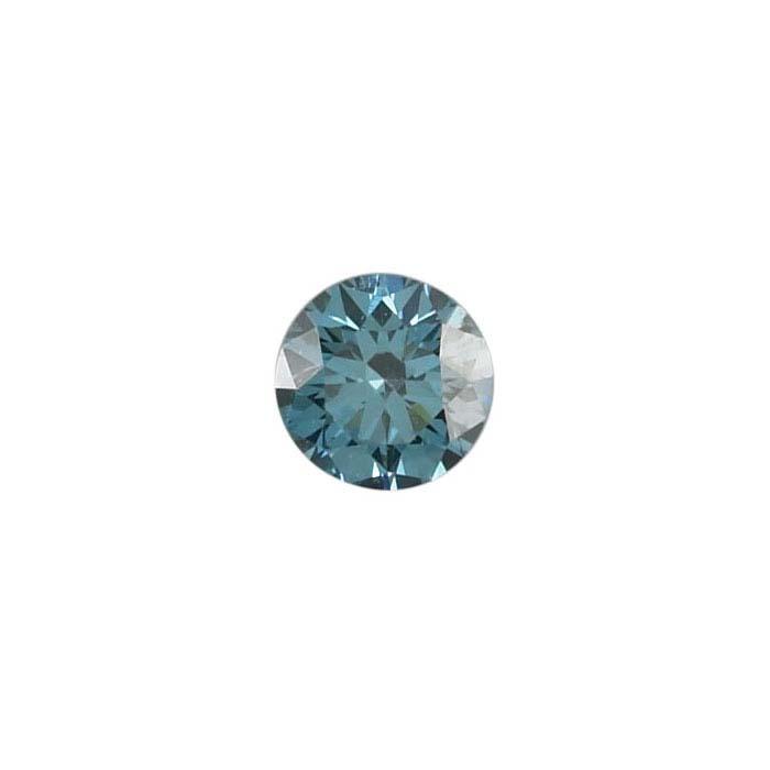 Treated Blue Diamonds Round, SI