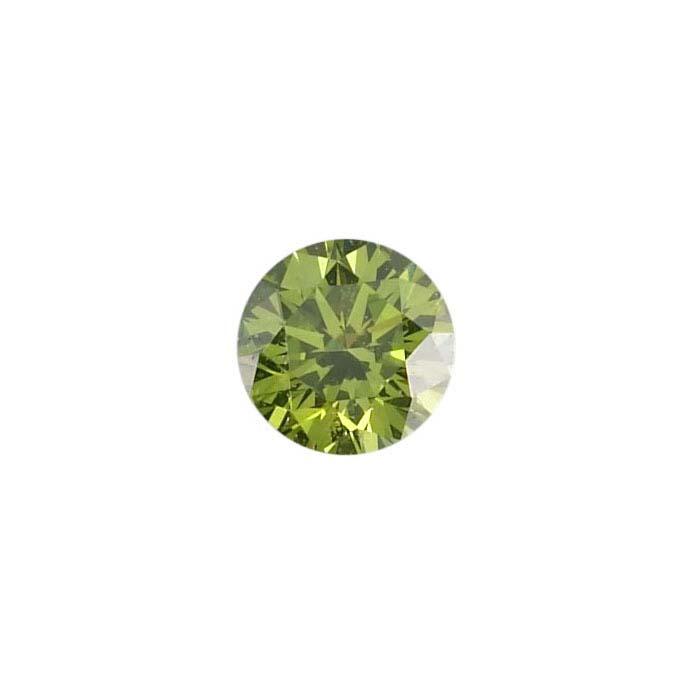 Treated Green Diamond .01-Ct. Round, SI