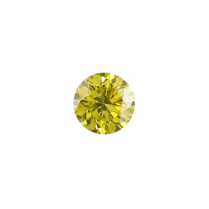 Treated Yellow Diamonds Round, SI