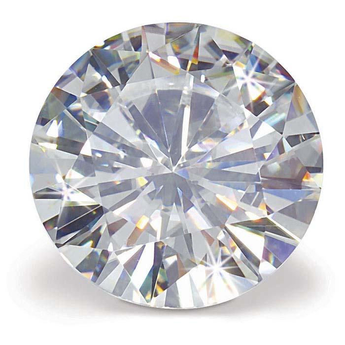 A round white diamond