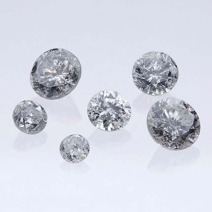 A group of silvermist diamonds