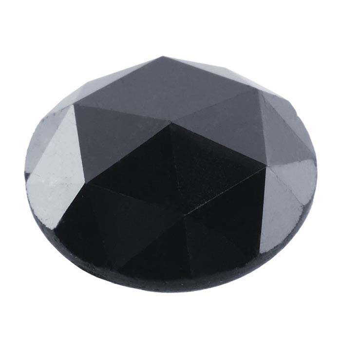 Treated Black Diamonds Round Rose-Cut