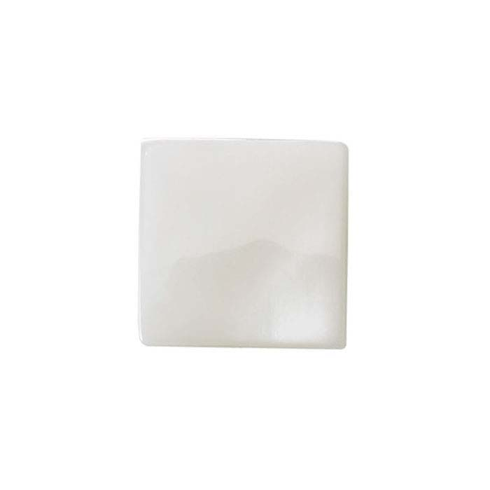 White Mother-of-Pearl 12mm Square Cabochon