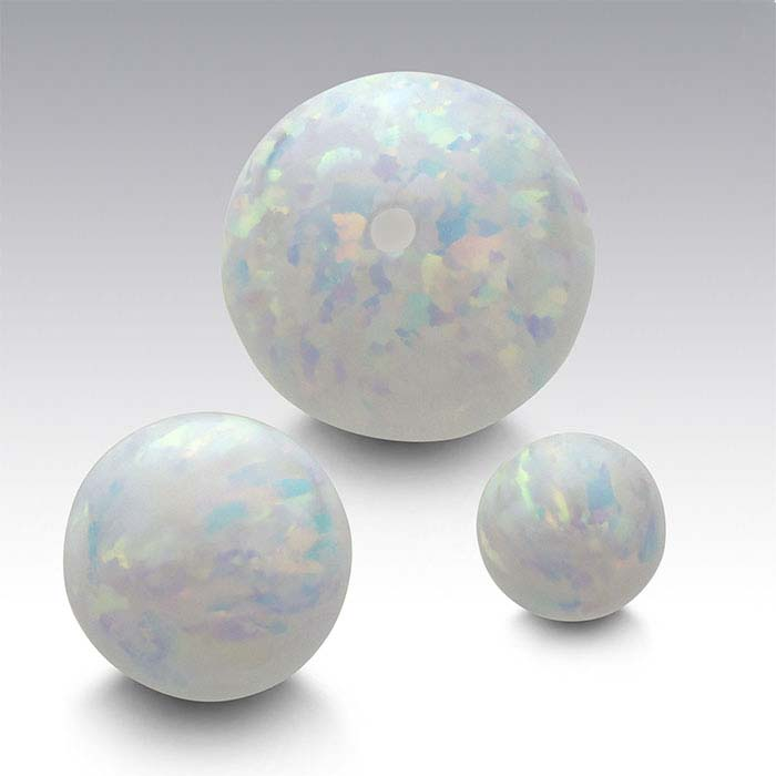 Kyocera Fire & Snow Opal Half-Drilled Beads