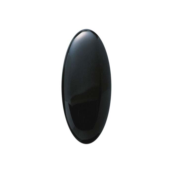 9mm x 7mm NATURAL BLACK OVAL ONYX CABOCHON CUT GEM GEMSTONE