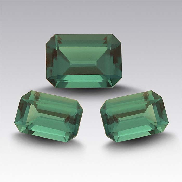 Lab-Created Emerald Octagon Faceted Stones