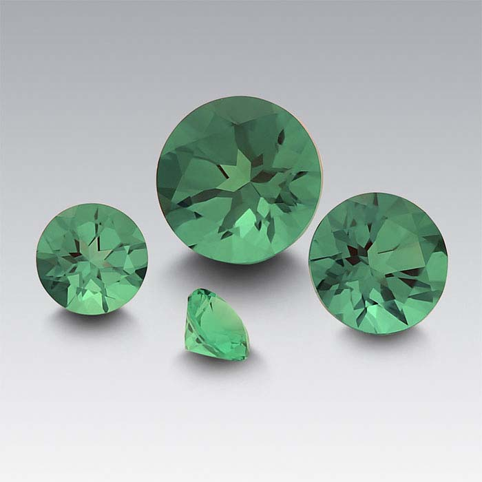 Lab-Created Emerald 4mm Round Faceted Stone