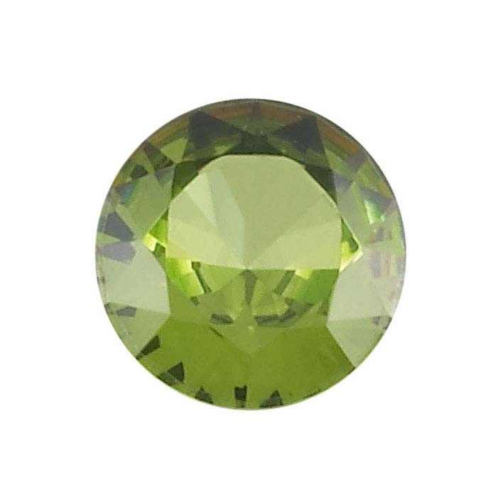 Simulated Peridot 4mm Round Faceted Stone