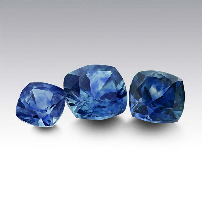 American Mined™ Montana Sapphire™ Cushion Faceted Stones