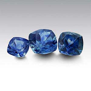 American Mined Montana Sapphire Cushion Faceted Stones