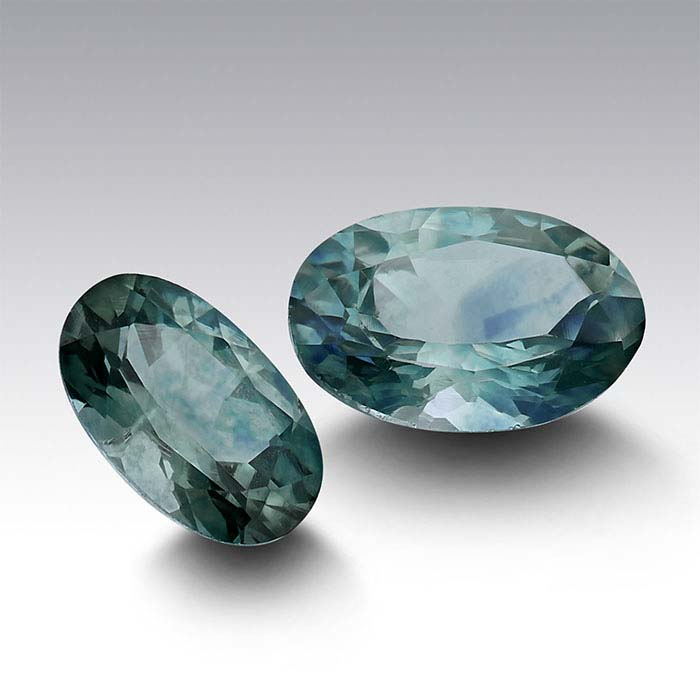 American Mined™ Teal Montana Sapphire™ Oval Faceted Stones