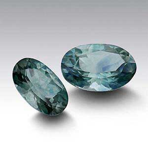 American Mined Teal Montana Sapphire Oval Faceted Stones
