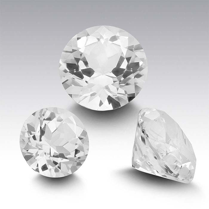 Swarovski Gemstones™ Natural White Topaz Round Faceted Stones