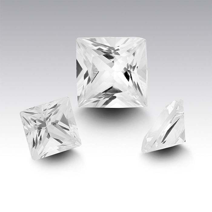 Swarovski Gemstones™ Natural White Topaz Princess Faceted Stones