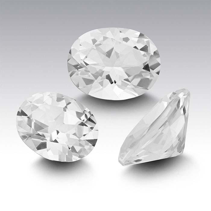 Swarovski Gemstones™ Natural White Topaz Oval Faceted Stones