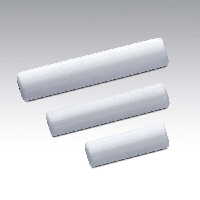 White Agate Tube Beads