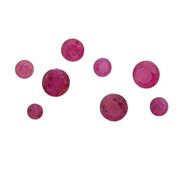 American Mined™ Rodeo Queen Ruby™ Round Faceted Stones, B-Grade
