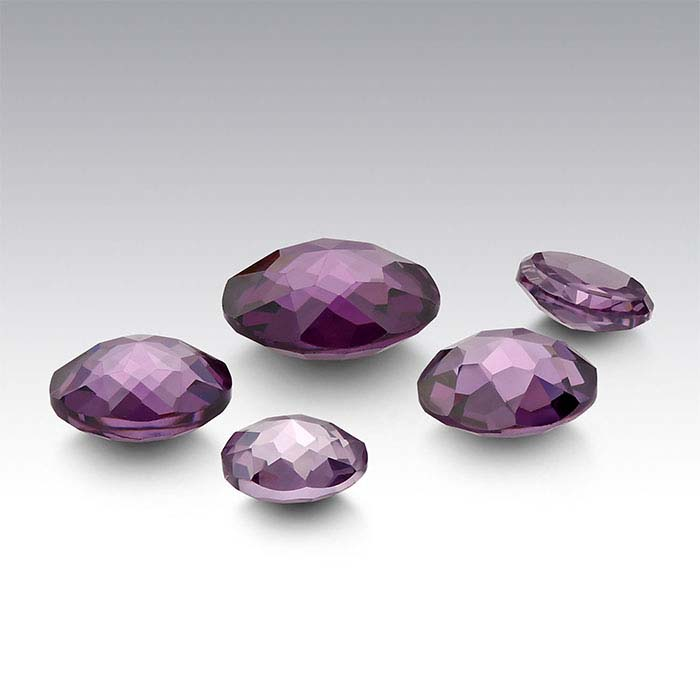 Purple CZ 4mm Round Le Bouton-Cut Cabochon