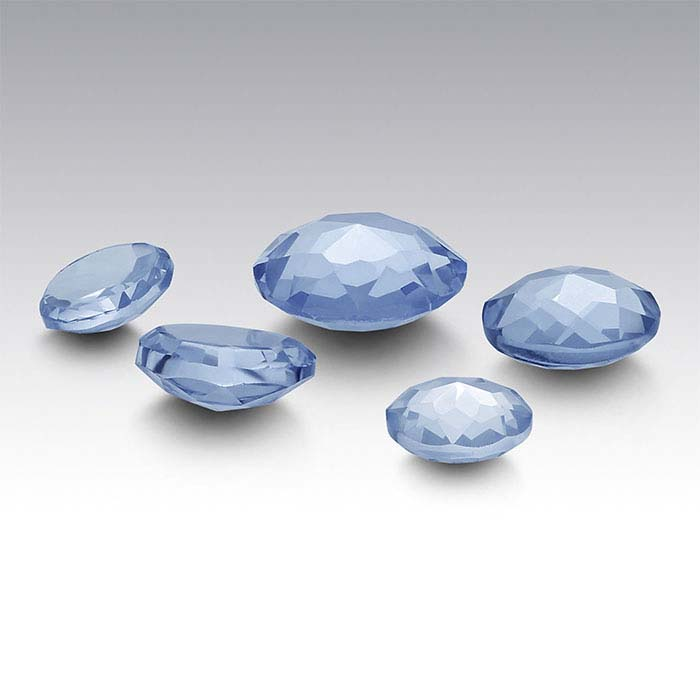 Simulated Aquamarine 4mm Round Le Bouton-Cut Cabochon