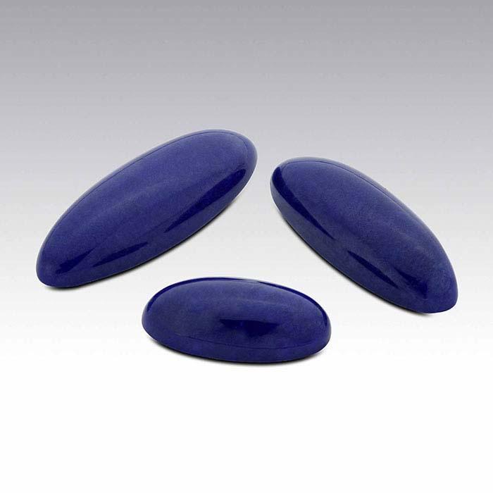 Lapis Lazuli 22 x 8mm Oval Cabochon, AA-Grade