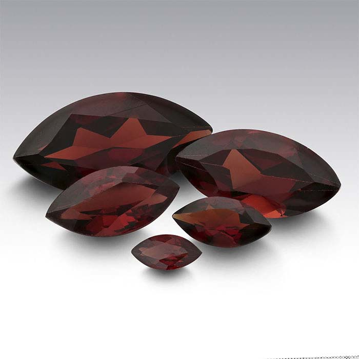 Garnet Marquise Faceted Stones