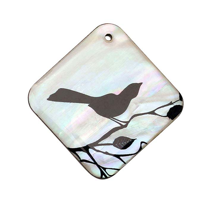 Mother-of-Pearl Bird Pendant