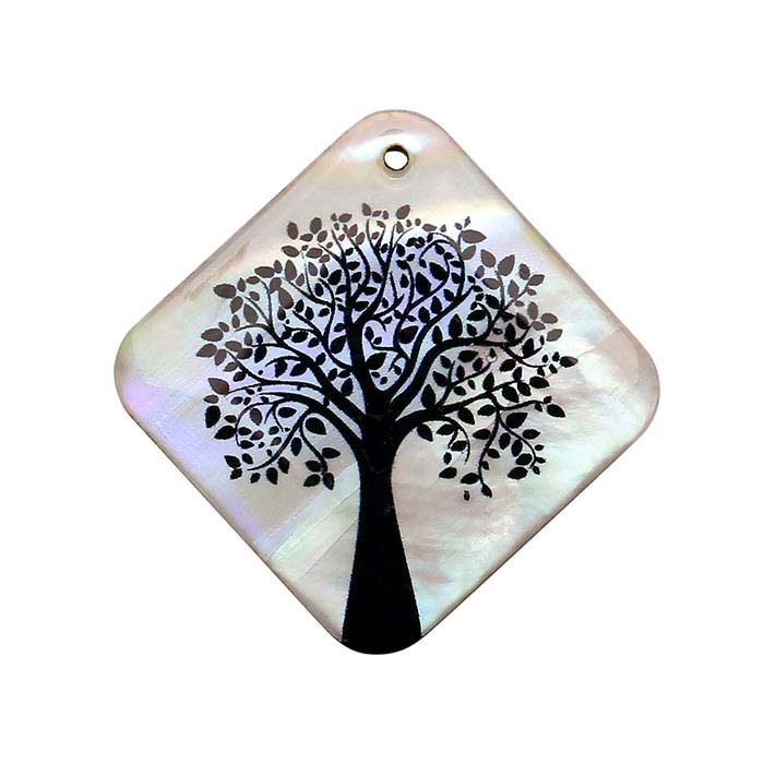 Mother-of-Pearl Summer Tree Pendant