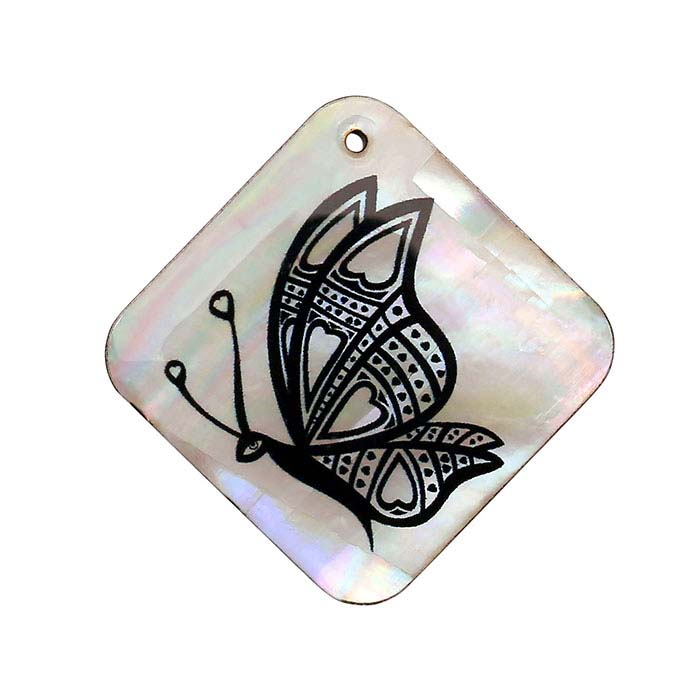 Mother-of-Pearl Butterfly Pendant