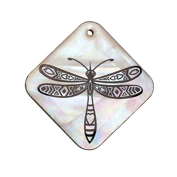 Mother-of-Pearl Dragonfly Pendant