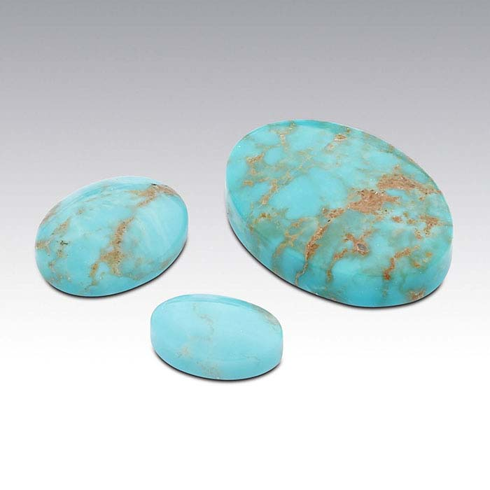 American Mined™ Gold Canyon Turquoise™ 10 x 8mm Oval Low-Dome Cabochon