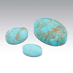 American Mined Gold Canyon Oval Turquoise Cabochon