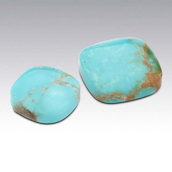 American Mined™ Gold Canyon Turquoise™ 10mm Cushion Cabochon
