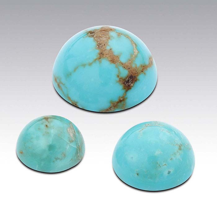 American Mined™ Gold Canyon Turquoise™ 8mm Round Cabochon