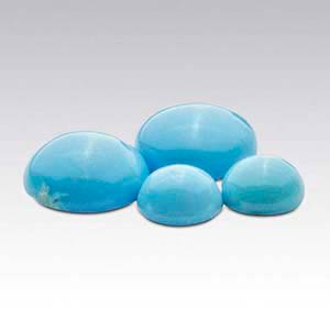 American Mined BlueBird Turquoise Round Cabochons
