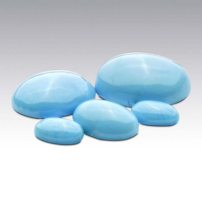 American Mined™ BlueBird Turquoise™ 10 x 8mm Oval Cabochon