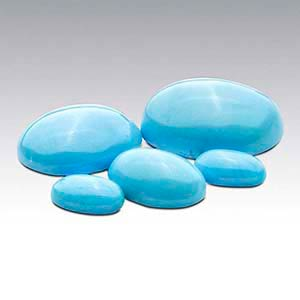 American Mined BlueBird Turquoise Oval Cabochons