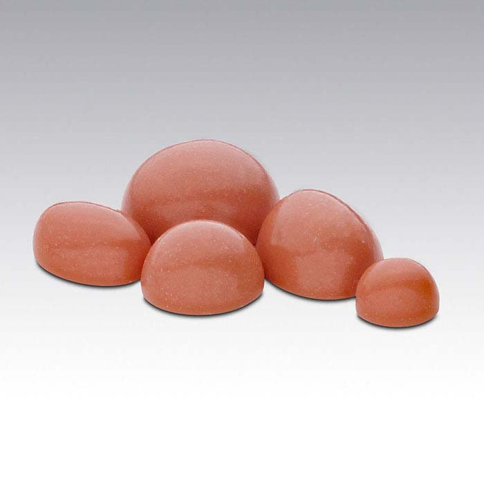 Simulated Salmon Coral Round Cabochons