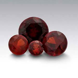 American Mined Idaho Garnet Round Faceted Stones