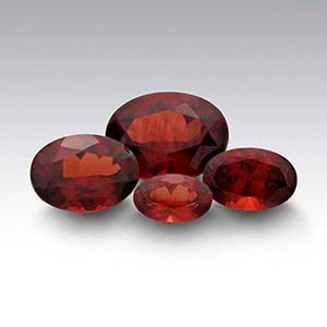 American Mined Idaho Garnet Oval Faceted Stones