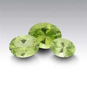 American Mined Arizona Peridot Oval Faceted Stones
