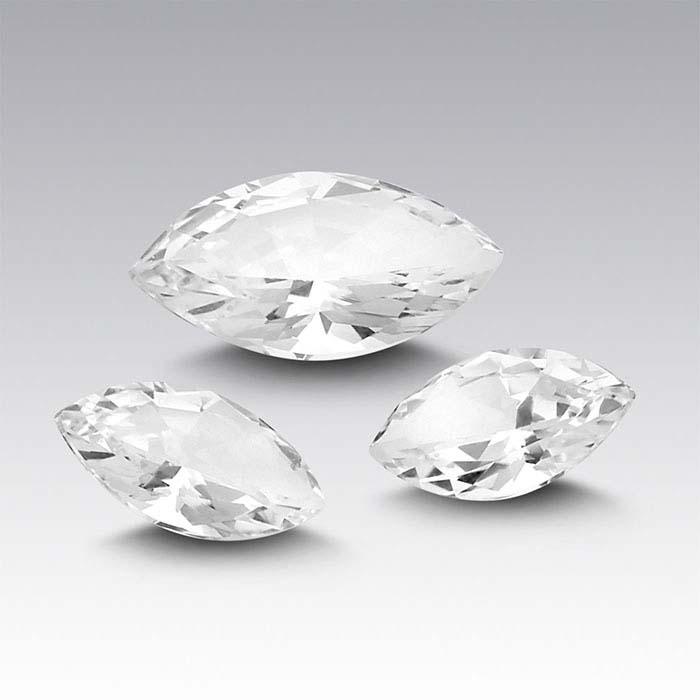 Swarovski Gemstones™ Natural White Topaz Marquise Faceted Stones