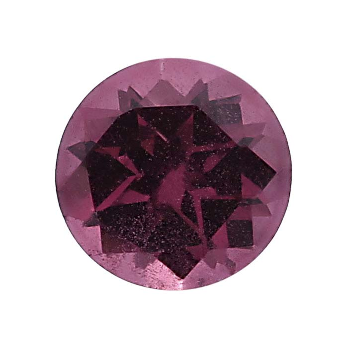 Rhodolite Garnet  Machine-Cut Round Faceted Stones, AA-Grade