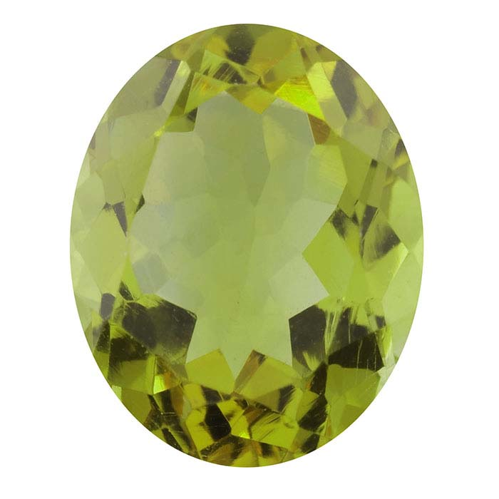 Peridot 10 x 8mm Oval Faceted Stone, AA-Grade