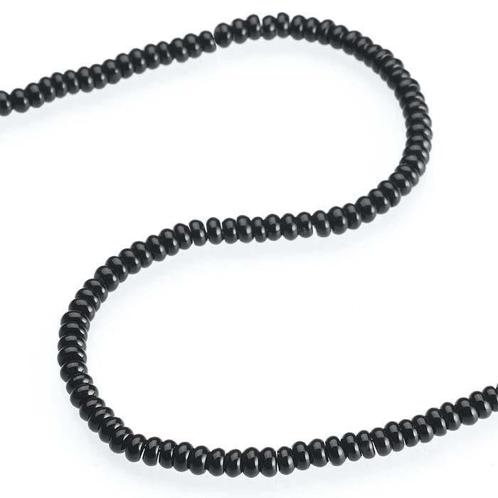 Black Onyx Abacus Bead Strands