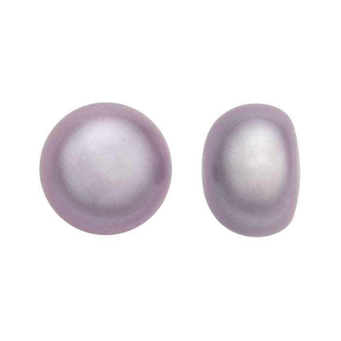Freshwater Cultured Half-Drilled 8–8.5mm Button Pearl, Lavender, A-Grade