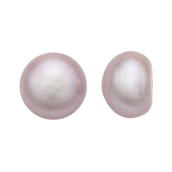Freshwater Cultured Half-Drilled 8–8.5mm Button Pearl, Pink, A-Grade