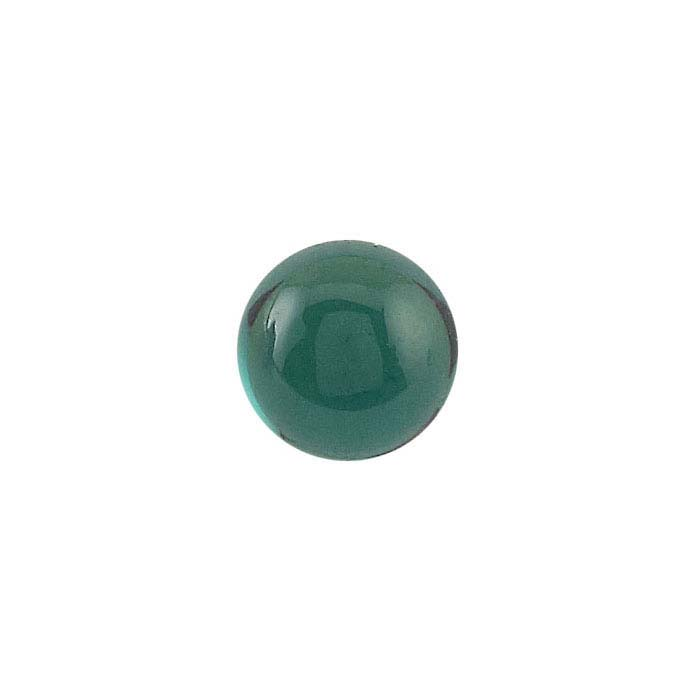 Lab-Created Emerald 5mm Round Cabochon